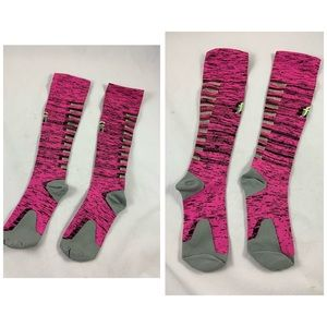 NEW got pink lightening bolt pink tube socks